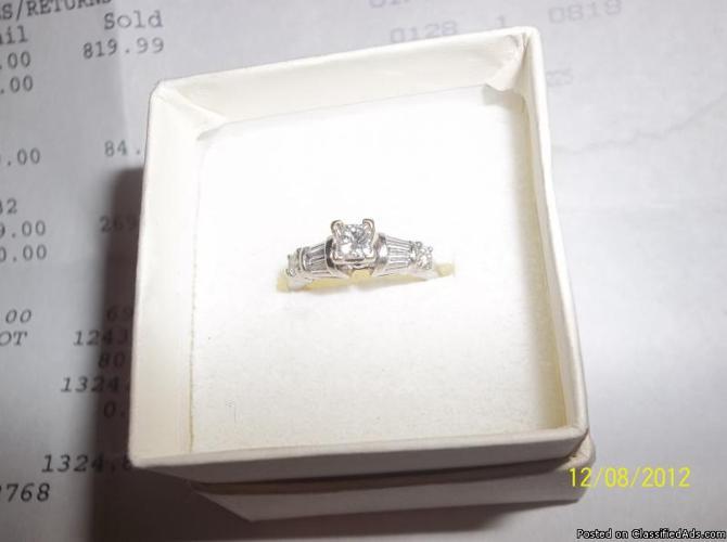 14 K white gold Wedding band - Price: $500