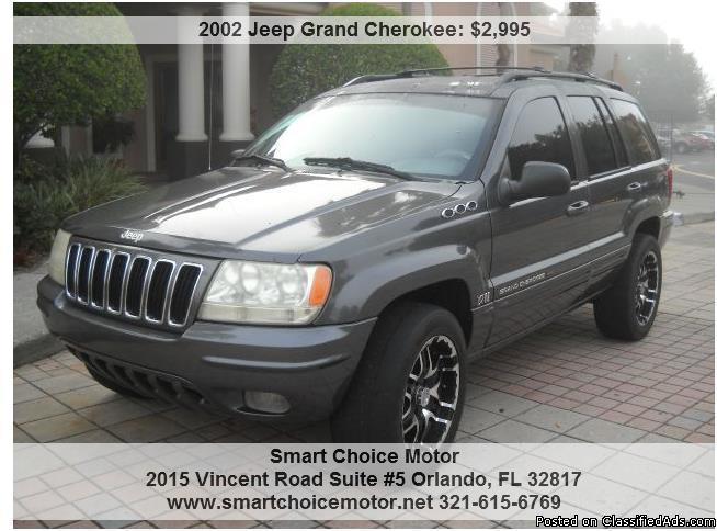 2002 Jeep grand cherokee, leather,full power