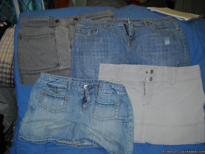 4 AWESOME American EAGLE mini skirts size 12 - Price: 25.00 for all
