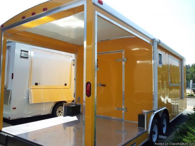 8.5X24 BBQ Beautiful Penske Yellow Concession Trailer - Price: $26,999