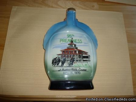 95th Preakness Pimlico Decanter Bottle $9 - Price: $9