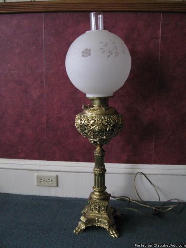 ANTIQUE BANQUET LAMP - Price: $600.00