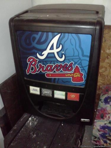 Atlanta Braves Drink Machine - Price: $125 or best offer