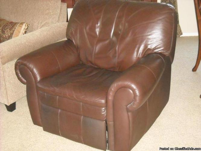 Brown leather recliner - Price: $625.00 / obo