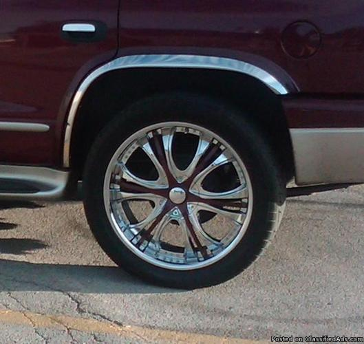 chrome rims and tires - Price: 1100.00 obo