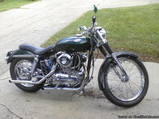 Custom 1965 HarleyDavidson sporster - Price: $6500.00 OBO