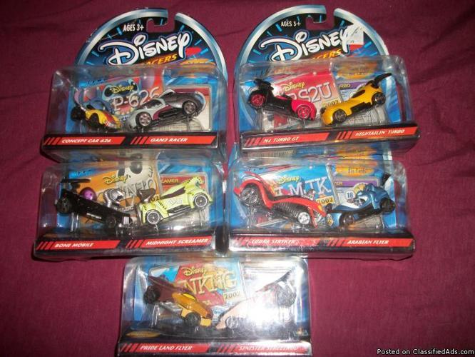 Disney Wild Racers 5 (unopened) 2 per pack - Price: 30