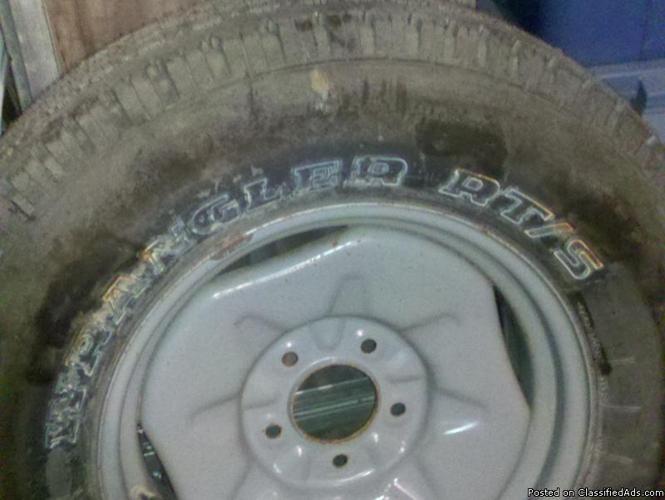 Goodyear Wrangler tire and wheel - Price: $75.00