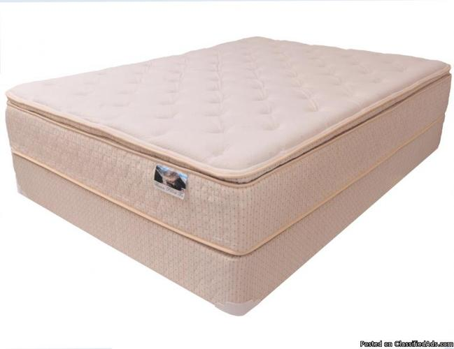 King PillowTop Mattress - New with Warranty - 706-284-7542 - Price: 199.00