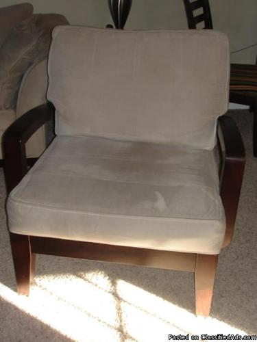 LIVING ROOM SOFA CHAIRS TAUPE MICROFIBER - Price: $80.00 EACH