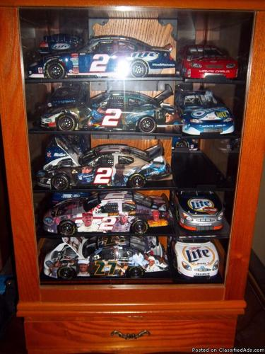 NASCAR Display Case and Die Cast included - Price: Make an Offer