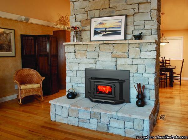 New Wood Stoves Burner Heating Glass Door Fireplace Insert