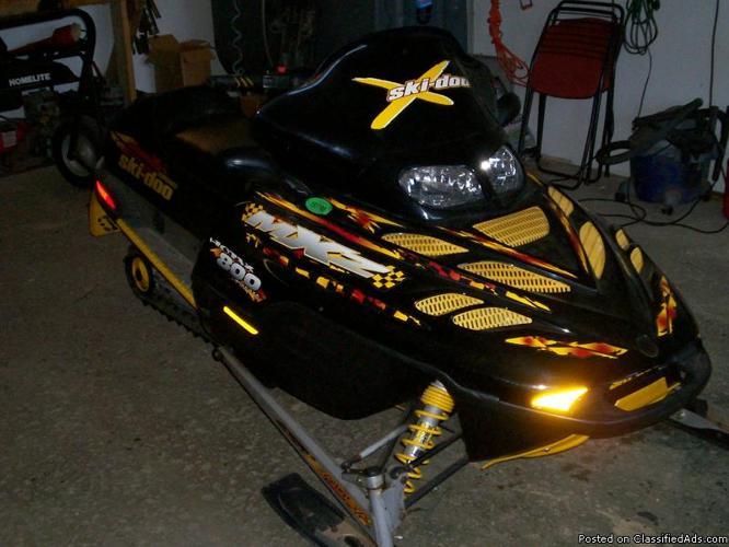 snowmobiles for sale! 2001 Ski Doo MXZ 800 2004 Ski Doo MXZ 600