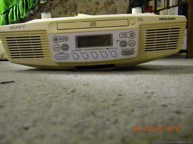 Sony Mega Bass under counter radio/disc player - Price: 25.00