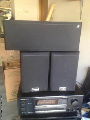 Stereo Receiver, CD, Cassette, large Base Speakers