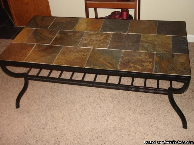 Stone tile top coffee table price 30 00 for sale in locust grove