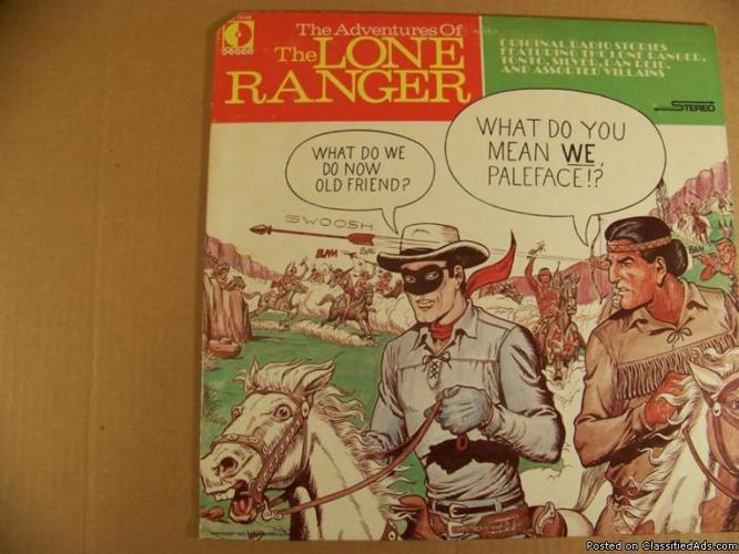 The Lone Ranger LP record - Price: $8.00