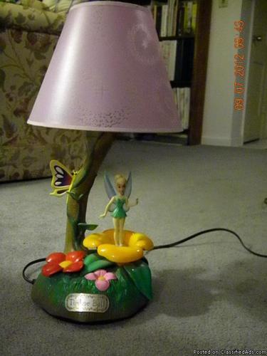 Tinkerbell Musical Lamp - Price: 30.00