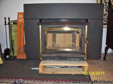 Used Osburn Wood Burning Stove Insert For Masonry Or Prefab