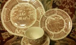 10 PIECE SETTING FAIR WINDS THE FRIENDSHIP OF SALEM ALFRED MEAKIN STAFFORDSHIRE ENGLAND $200 obo contact at jejmej1@yahoo.com or 561-784-1302