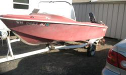 Boat, 800 motor and trailer.  Motor has low hours and runs good.  Boat needs some work, doesn't leak and is solid. $600.00 OBO. cal Gary at (208)301-3074