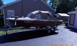 66 glastron 14 ft boat--converttble top--seats 4--40 hp mercury 2 stroke engine--good trailer--has a depth and fish finder--safety equipment--stereo--runs good--good condition.selling due to illness in family.