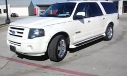 THIS 2007 expedition el limited edition has moonroof, tv/dvd/ 20inch factory chromes 8 passinger seating. heated seats, to much to list. 112k original miles clean carfax and clean texas title in hand. Cash,cashiers check or credit union draft only. Thank