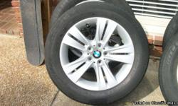 "I have a set of four 18 inch BMW rims wrapped with ""like new"" Radial XSE 255 55 R18's they were on an X5 before and I don't have that car anymore. the rims are almost brand new as well they were my spare set so I never had them on the car. if your are"
