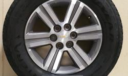 """18"""" CHEVY 1500 WHEELS WITH 255/65/R18 GOODYEAR FORTERA TIRES!!((($800)))  ALSO IN STOCK NEW AND USED WHEEL AND TIRE PULL OFFS FOR CHEVY TRUCKS,CAMARO,CORVETTE,FORD TRUCKS,MUSTANG,DODGE RAM,CHARGER,CHALLENGER,JEEP"""