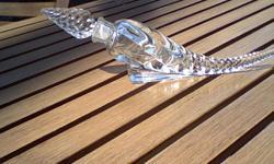 "Vintage Clear Swirl Pressed Glass ""Cornucopia"" perfume bottle, 10 1/2"" long. Excellent Condition. 7277262893"