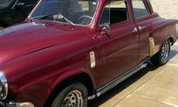 This is a 1952 Studebaker Commander that has a new Chevy 350 engine and transmission.  It runs perfectly and the body is in almost perfect condition.  The interior was re-done about 10 years ago and is in good shape.  This car is a blast to