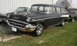 1957 CHEVY 4 DR WAGON NO MOTOR/TRANNY WAS 4 SPEED HAS SOME RUST ALL STOCK HAVE XTRA PARTS HAS GOOD OHIO TITLE $4800 CASH PRICE FIRM LOC 18 MILES N/W DAYTON OHIO CALL 1 318 387 4600