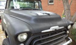 1957 chevy custome 4x4 pickup 350 lock outs runs very good ps/pb new windshield/upholstery.