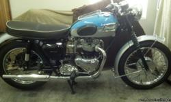 This is a rare 1962 Triumph T120 650 Bonneville UK Edition. It is one in a collection of rare Triumph?s being sold for a private collector and restorer. This motorcycle is especially rare because the 1962 650 Bonneville was the last year pre-unit Triumph