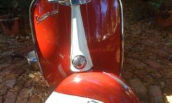 This classic Vespa always turns heads! Completely restored with only a few miles on a rebuilt engine. This Vespa 150 is the best looking bike ever! Serious inquires call 1-850-591-1978