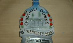Jim Beam Decanter.... 96th Running of the Kentucky Derby at Churchill Downs No Chips or Scratches