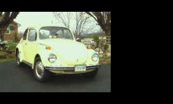 1971 VW Super Beetle..93,115 original miles..canary yellow w/black interior..solid car..good condition...new interior, tires, bumpers, running boards, window & door seals..solid floorboards & heat exchangers..$6700 invested..will sacrifice for $4600