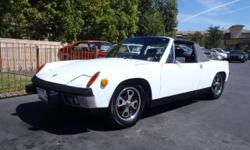 Here?s a nice two-owner 72 Porsche 914. It has the 1.7L engine that was rebuilt 40K ago. The engine has been set up with Dellorto carburetors and it also has a Dr. Evil side-shift transmission. You can keep an eye on the vitals with a mechanical oil
