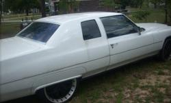 This is a classic with total rebuilt everything. 400 transmission 500 engine white on white its a must see will work with the asking price. without the rims on 1900 are will trade for a smaller car for my daughter to use to go to school in. This car is