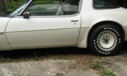 All original, never been restored. Excellent condition, runs great. Exterior color white, interior white/charcoal, V-8 Turbo (301) 4BBL engine, automatic transmission, power steering, power door locks, power windows, original spare tire and