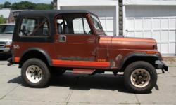 1985 CJ7 Six Cyl original Chrysler Eng. (127,747 miles) This is a good solid 2/4 wheel hi-low transfer case drive. A tough Jeep with the usual issues for its age. Garaged and not driven the past four+ years however started on the first crank. In order to