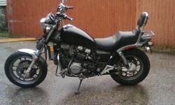 "black bike with 36000 mi runs good reicent wrk done to carbs ""re built"" compretion tested good motor was taken out of the bike to do wrk to inner shifter guasquet i had the bottum of motor looked at while it was out . was on rd till june 2011. i cant ride"