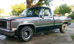 Your dreams of finding the perfect 1986 GMC Sierra Classic has just come true! It has a brand new turbo 350 transmisson, brand new 350 engine with a performance plus intake and a brand new 600 cfm eddlebrock carburetor. All new brake parts, new bushings,