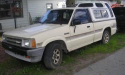 1987 MAZDA B2000 PU, 2 WHEEL DRIVE, 5 SPEED, 4 CYLINDER, ORGINAL OWNER, NO RUST, RUNS AND LOOKS GOOD, SOUTHERN TRUCK, TITLE IN HAND- CASH & CARRY BY NEW YEARS $800. WE DO NOT REPLY TO EMAILS, CALL 315 562 2943