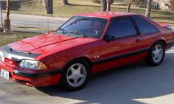 1990 Mustang LX Hatchback 5.0 4 sp auto. 51K original miles. 3.73 rear, bear brakes disc front and rear, lowering springs, traction control rear suspension, Trans shift kit, Ford headers, complete with Dynomax full exhaust with power chamber, AFR Aluminum