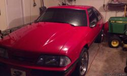 90 lx 5.0 car has less than 500 miles since was rebuilt this spring, has 400+ hp BES racing engine, new bbk headers, high pressure fuel pump, 28 lb injectors new high pressure clutch, flow master exhaust Edalbrok aluminum heads, ported&polished Performer