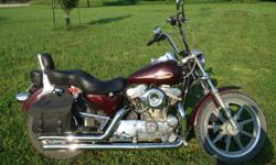 """1992 Harley Davidson sportster, 1200 motor kit put on 14,000 mi ago, Fat Bob tank, new rear tire, brakes, drive belt, front tire good, Mustang Solo seat, Gel double seat, forward controls, 3"""" extended pegs, light kit, straight pipes. $2,800 Cash Firm. No"""