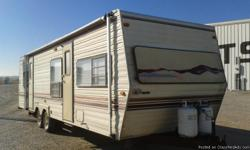 1992 COBRA SIERRA 30' FOLD DOWN SOFA AND DINETTE, QUEEN BED, 2 DOOR FRIDGE, 4 BURNER STOVE W/OVEN, RANGE HOOD, MICROWAVE, 6 GAL. WATER HEATER, AM/FM CASSETTE, DUCTED HEAT & A/C. CALL: --