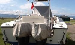 23' celebrity fishing boat, 2-90 horse yamaha's, internal fuel, head, all fishing equipment, 4 axle galvanized trailer with new tires, bimini top, and many extras. --. Northwest Montana, Eureka. Call for more information.