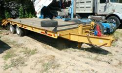 Call Richard at -- Call Anytime 24 / 7  $8,500.00 / Offer  1995 Belshe 25? Heavy Duty Equipment Trailer w/ Rear Loading Ramps ( Texas Trailer - No Rust or Corrosion ) Model# DT-255 25,500 LB GVWR 10,000 LB GAWR 6,500 lbs ( Trailer